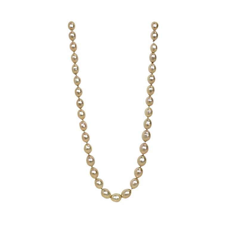 1982 Chanel Costume Pearl Strand Necklace 1