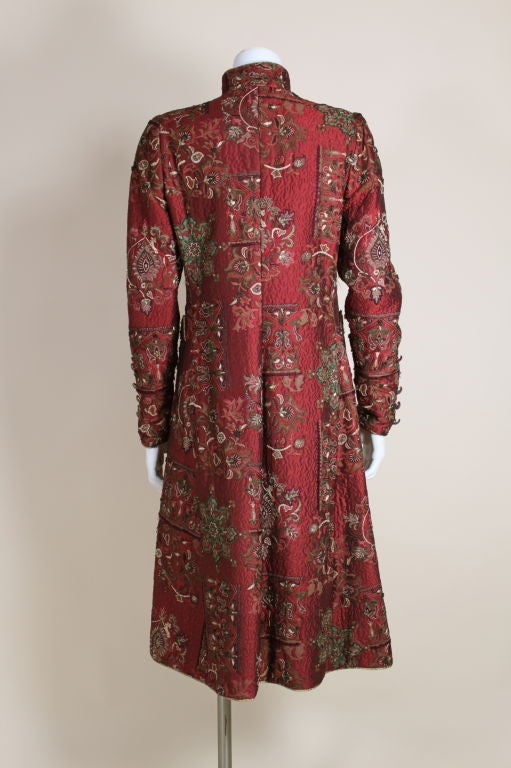 De la Renta Embroidered Silk Coat 5
