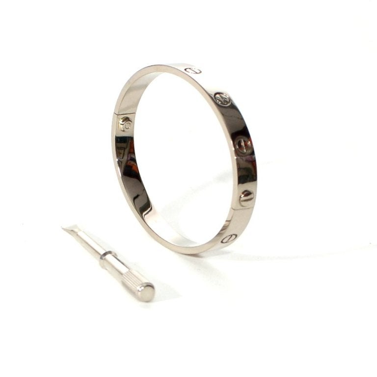Cartier White Gold Love Bracelet size 16. 2