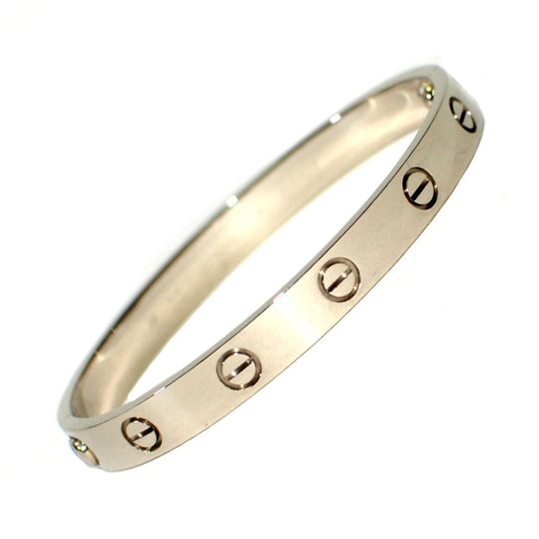 Cartier White Gold Love Bracelet size 16. 1