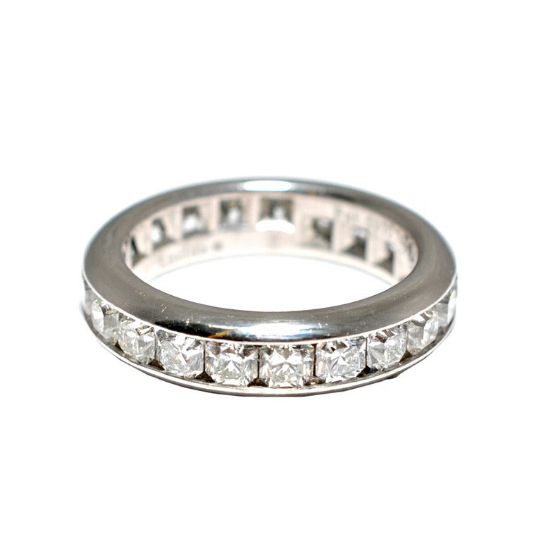 Tiffany And Co Diamond Platinum Lucida Eternity Ring At