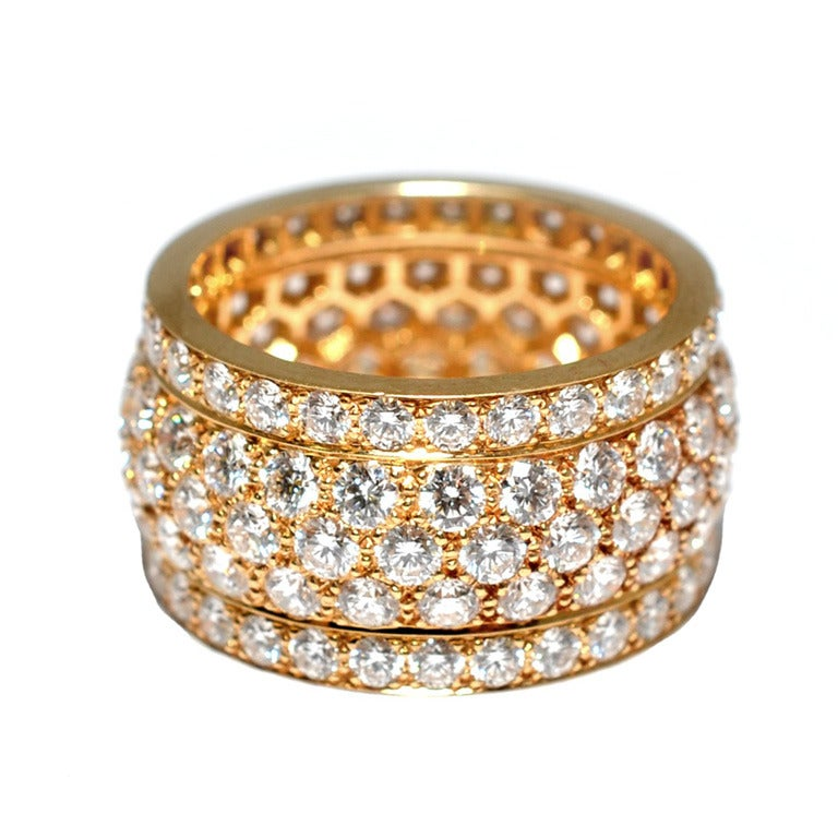 cartier nigeria five row yellow gold ring at 1stdibs