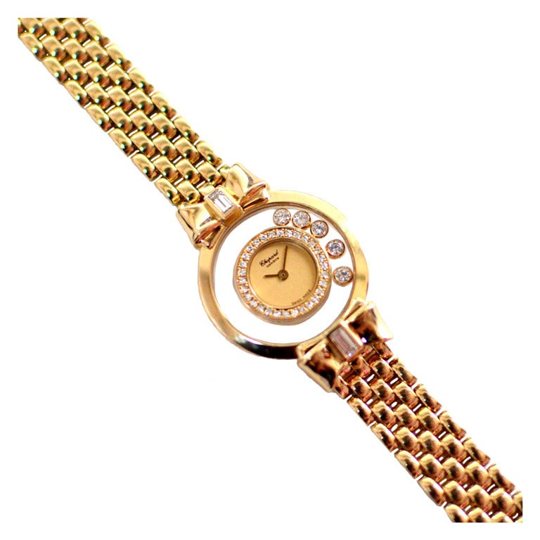 chopard s yellow gold happy bracelet at
