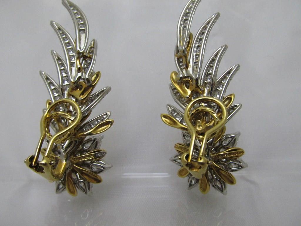 Tiffany & Co. Jean Schlumberger Flame Ear Clips 2