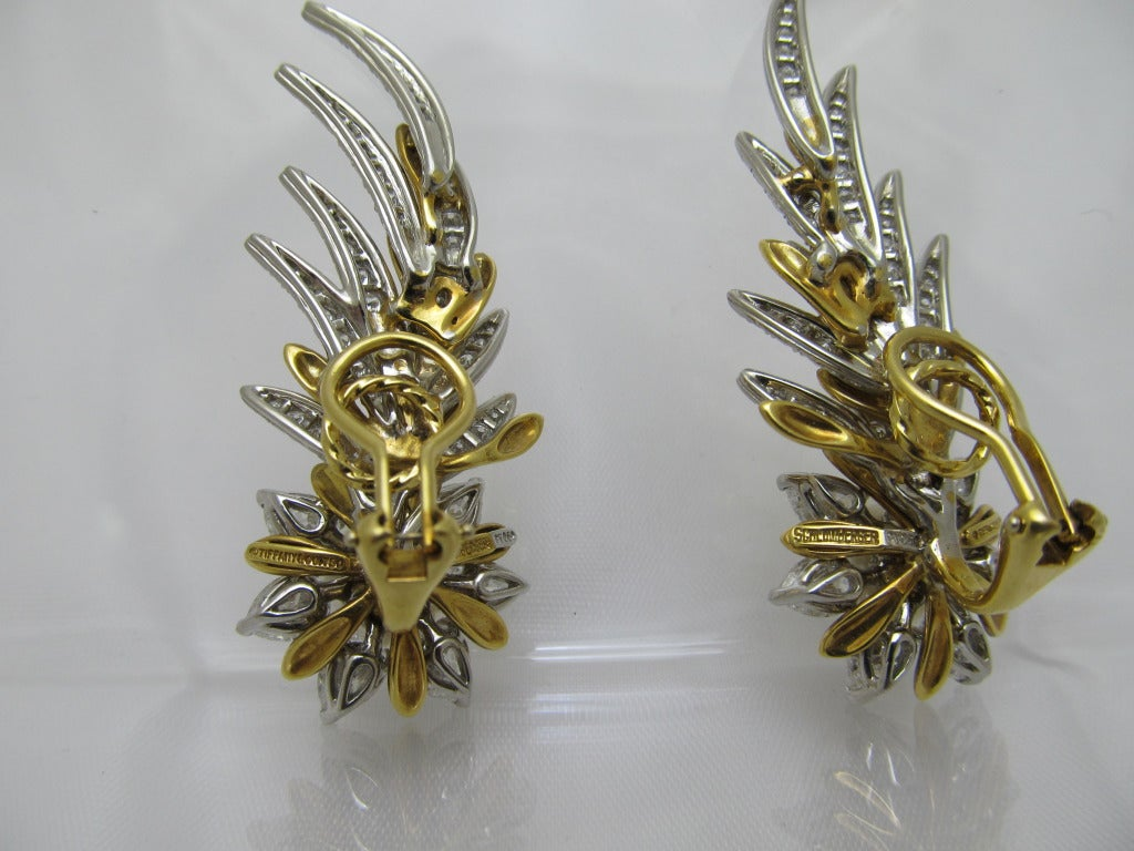 Tiffany & Co. Jean Schlumberger Flame Ear Clips 3