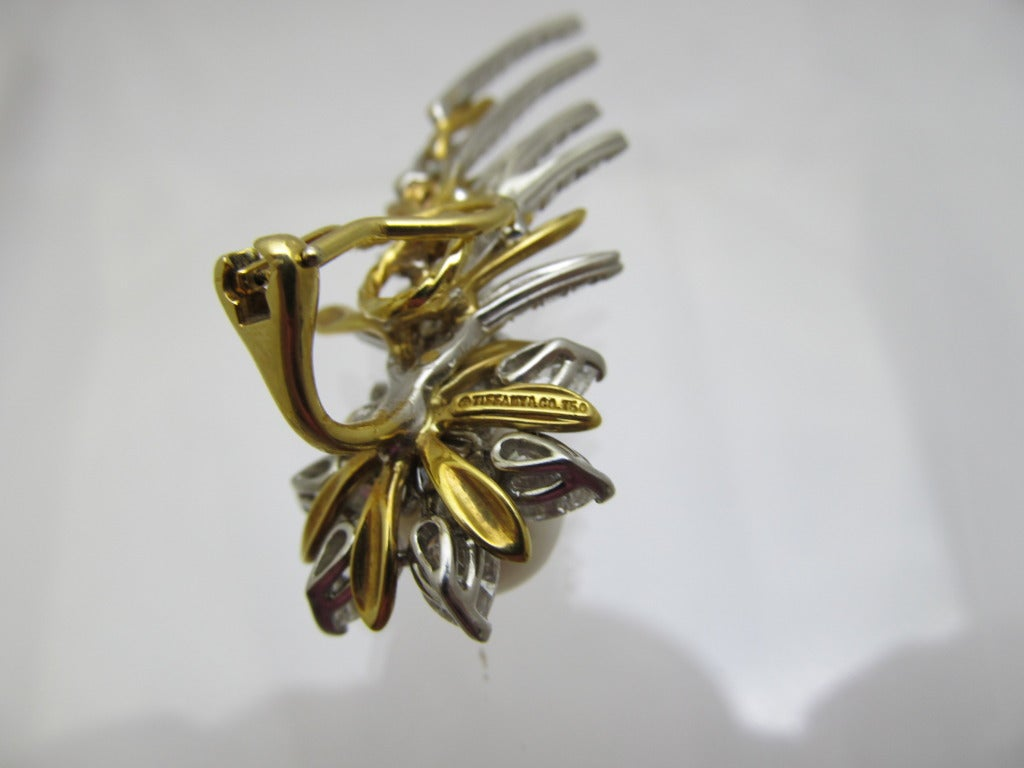 Artist Tiffany & Co. Jean Schlumberger Flame Ear Clips For Sale