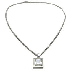 Chopard  GIA  Diamond Pendant