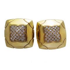 Bulgari Diamond Gold Earrings