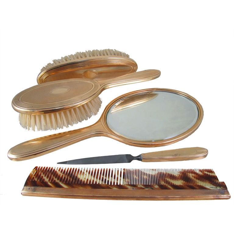 TIFFANY & CO. Gold Vanity Set