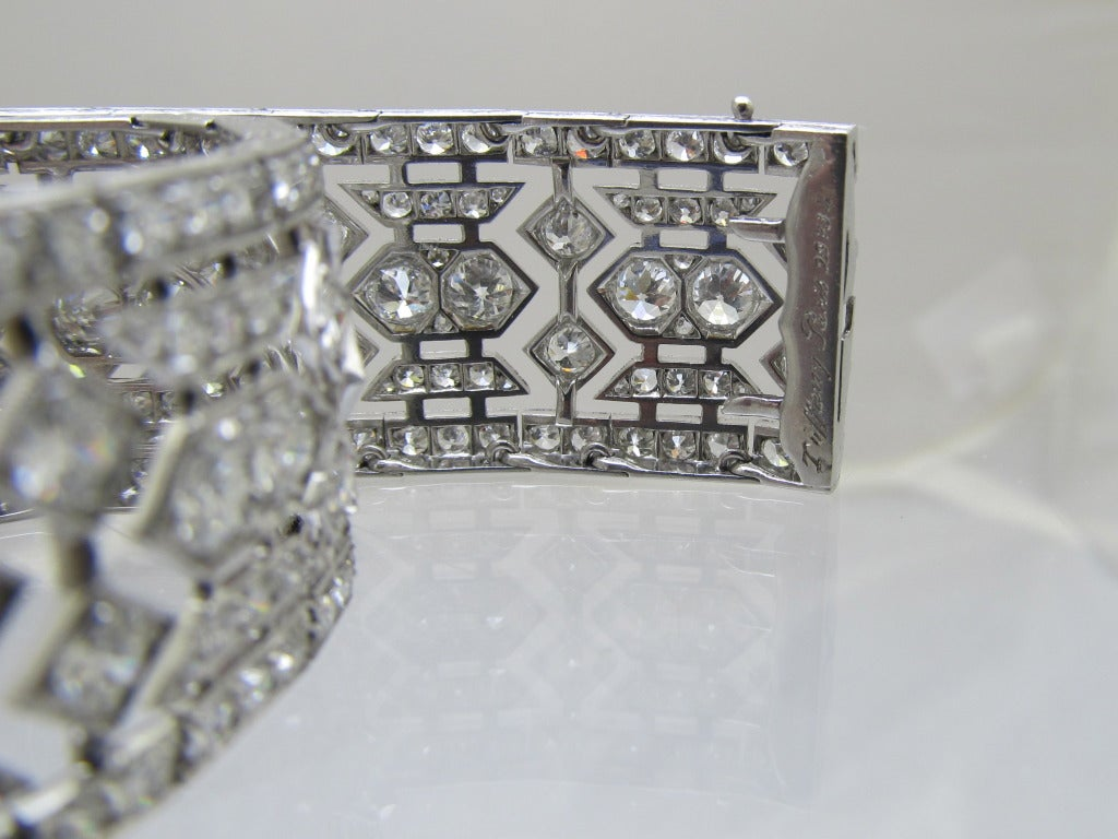 Women's Tiffany & Co  Art Deco Diamond  Bracelet For Sale
