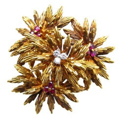 Tiffany & Co. Flower Brooch