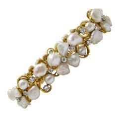 Ruser   Pearl & Diamond Bracelet