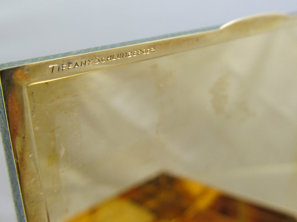 Tiffany and Co by  J. Schlumberger  Gold Case For Sale 1