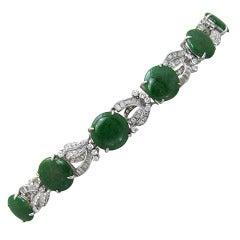 Jade  Diamond Bracelet
