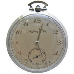 Tiffany & Co Platinum Pocket Watch with Diamond Band