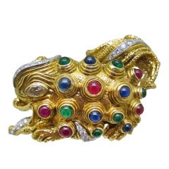 David Webb Dragon Brooch