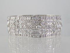 Tiffany & Co  Art Deco Diamond  Bracelet In Excellent Condition For Sale In New York, NY