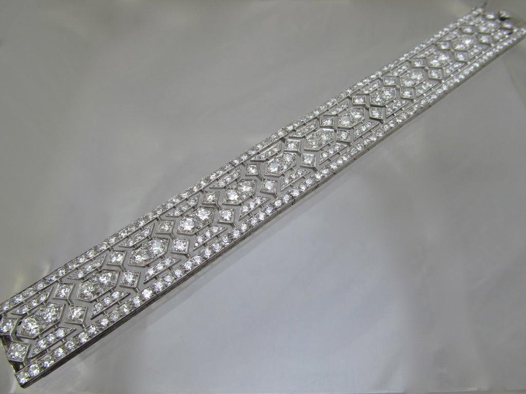 Tiffany & Co  Art Deco Diamond  Bracelet For Sale 1