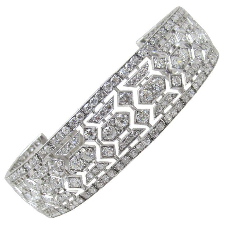 tiffany and co art deco diamond bracelet at 1stdibs. Black Bedroom Furniture Sets. Home Design Ideas