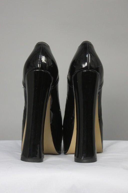 1993 Vivienne Westwood Black Patent Platform High Heel Shoes 3