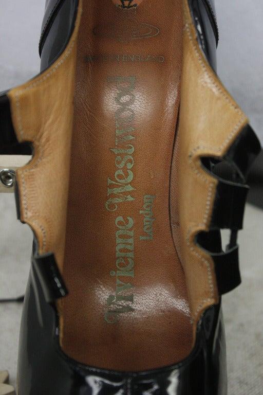 1993 Vivienne Westwood Black Patent Platform High Heel Shoes 4