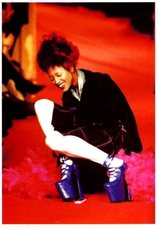 1993 Vivienne Westwood Black Patent Platform High Heel Shoes 6