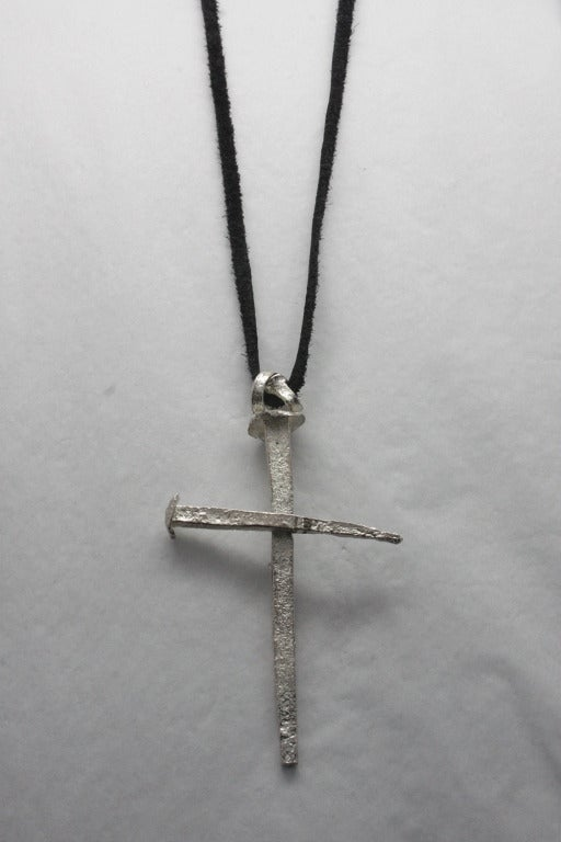 Tom Binns Nail Spike Cross Necklace 2