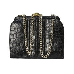 1950s Milgrim Crocodile and Chain Bag