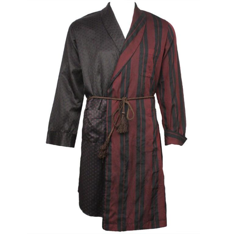 Margiela Menu0026#39;s Asymmetrical Multiprint Silk Robe at 1stdibs