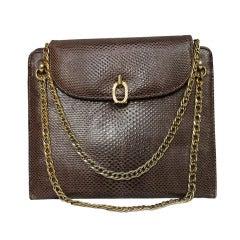 1960s Bellestone Lizard Chain Handle Purse