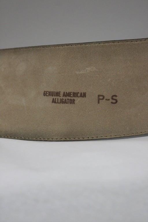 Women's Donna Karan Alligator Belt with Detachable Chain For Sale