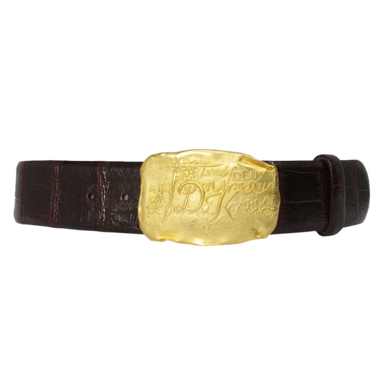 Donna Karan Alligator Belt