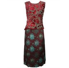 1990s Dries Van Noten Multi Floral Dress