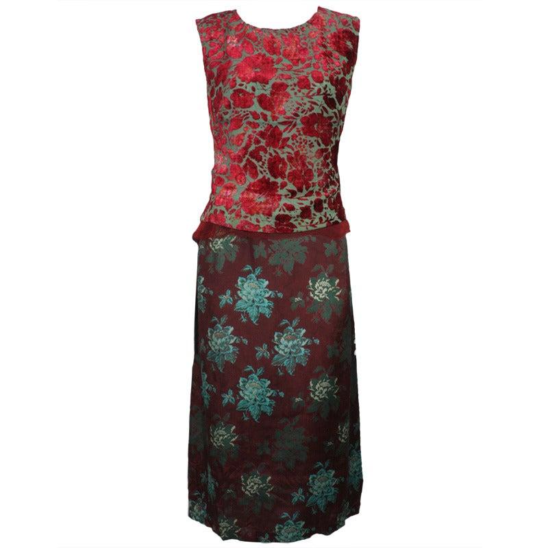 1990s Dries Van Noten Multi Floral Dress At 1stdibs