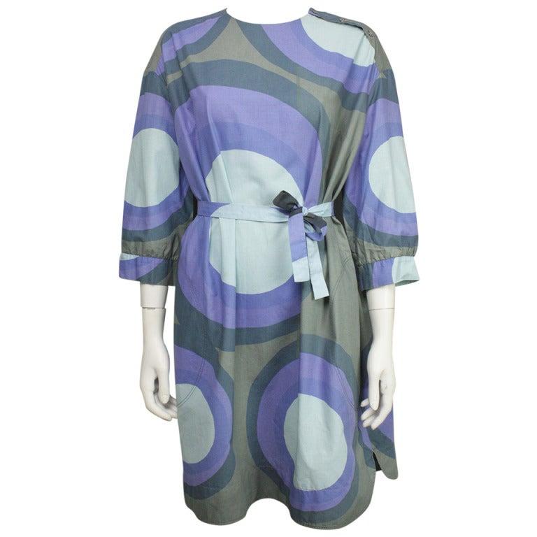 Marimekko 1960s Geometric Print Dress