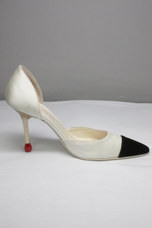 Chanel Matchstick Stiletto Heels At 1stdibs