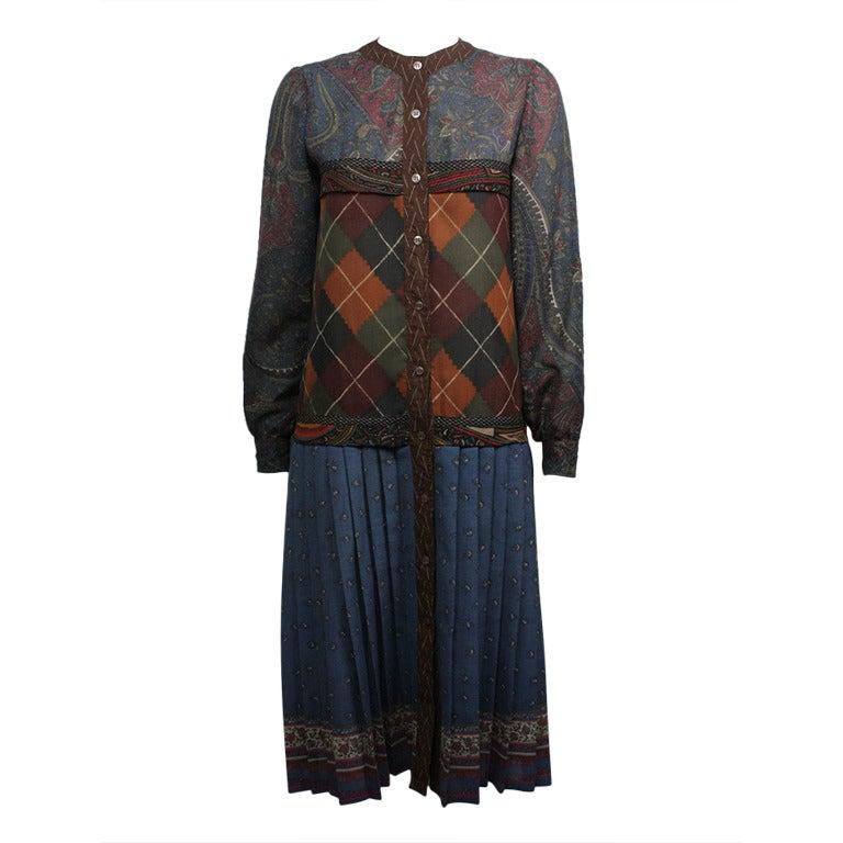 Koos Van Den Akker Early 1980s Patchwork Dress