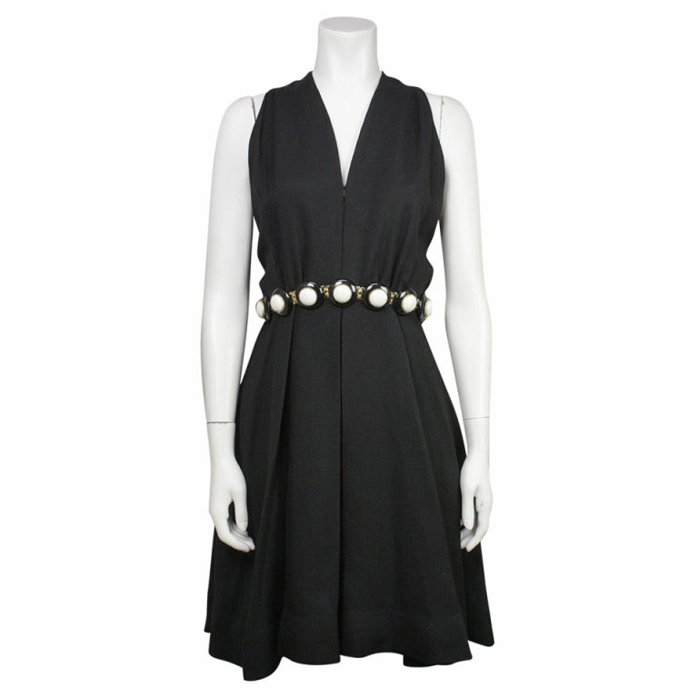 Donald Brooks 1960s Belted Cocktail Dress