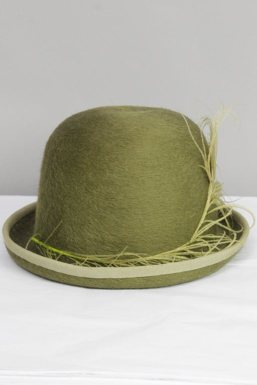 SALE!! Originally $900 Patrick McDonald believes in the art of dressing.  For fashion's favorite dandy, every ensemble begins with a designer hat bold enough to stand alone. This hat is part of Patrick's personal collection for sale only at