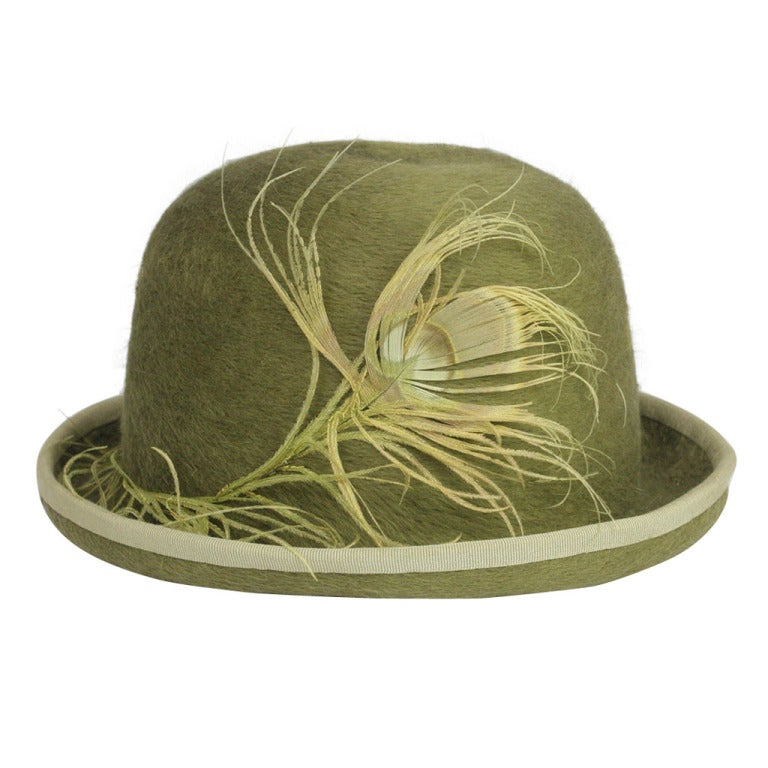 Patrick McDonald's Green Feather Bowler For Sale