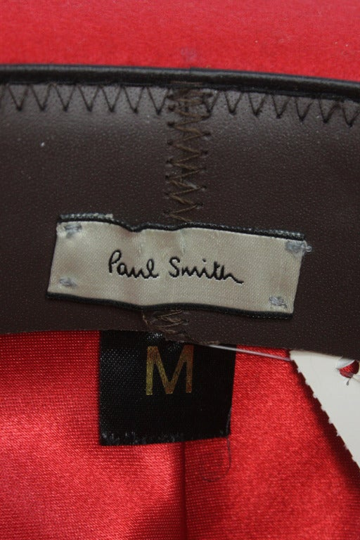 Patrick McDonald's Red Paul Smith Bowler In Excellent Condition For Sale In New York, NY