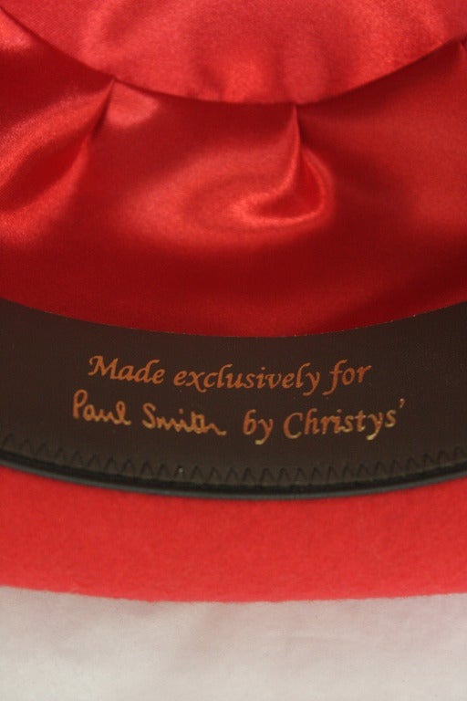 Women's or Men's Patrick McDonald's Red Paul Smith Bowler For Sale