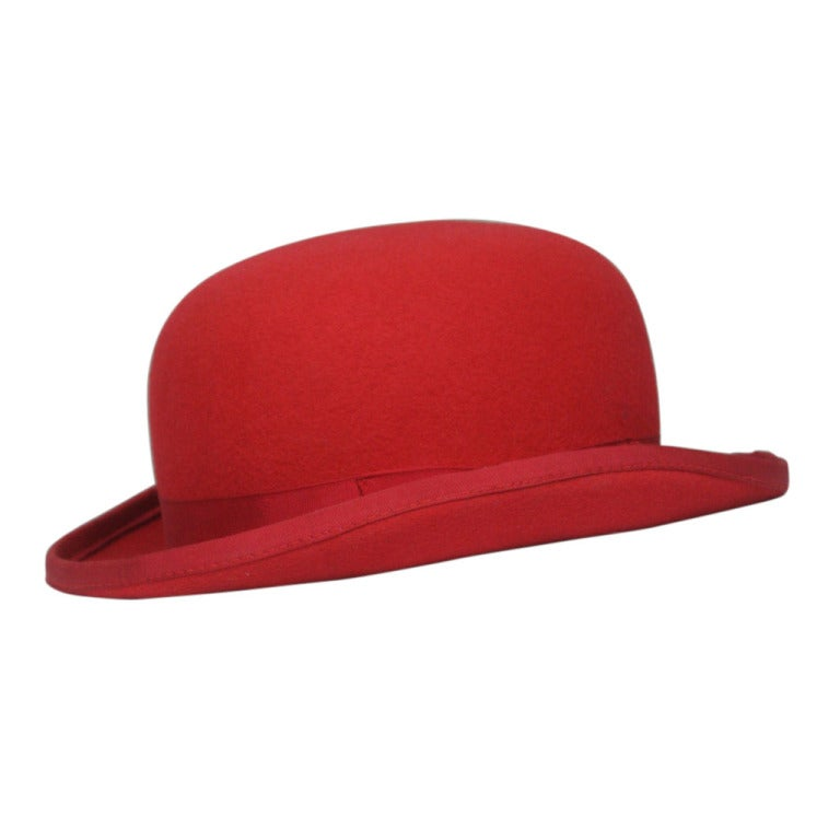 Patrick McDonald's Red Paul Smith Bowler For Sale