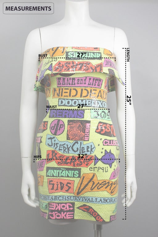 Sequined Stephen Sprouse Rock Sticker Dress 6