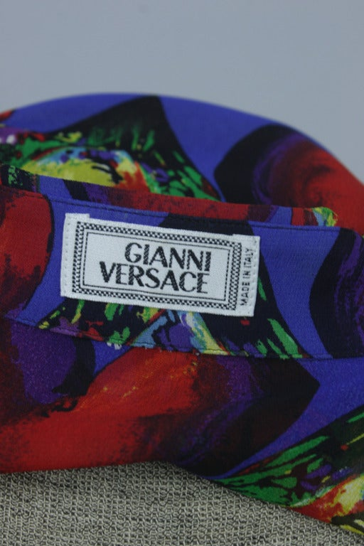 Late 1980s Men's Gianni Versace Sheer Silk Chiffon Shirt 4