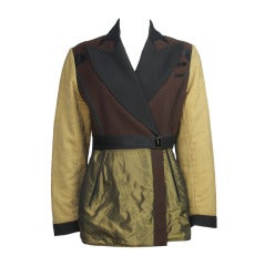 1980s Jean Paul Gaultier Satin, Metallic & Wool Blazer