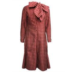 Geoffrey Beene 1970s Silk Foulard Print Dress