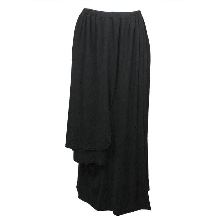 1990s Comme des Garcons Wool Asymmetrical Skirt