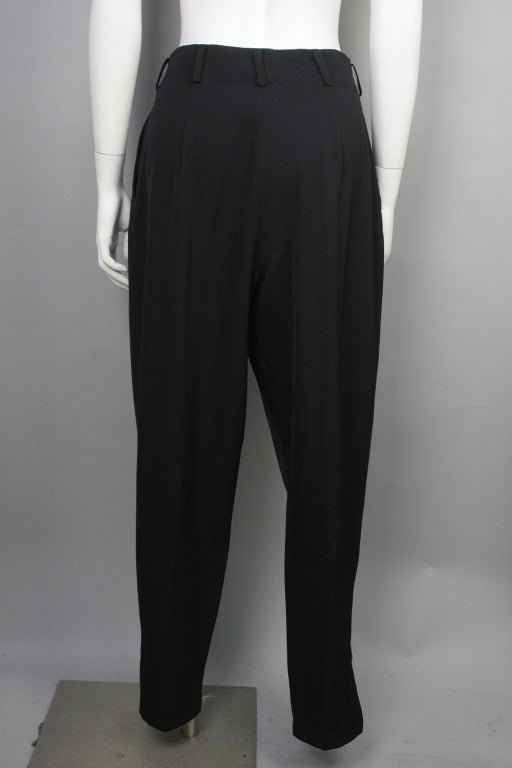 1980s Yohji Yamamoto Jodphur Dress Pants In Excellent Condition For Sale In New York, NY