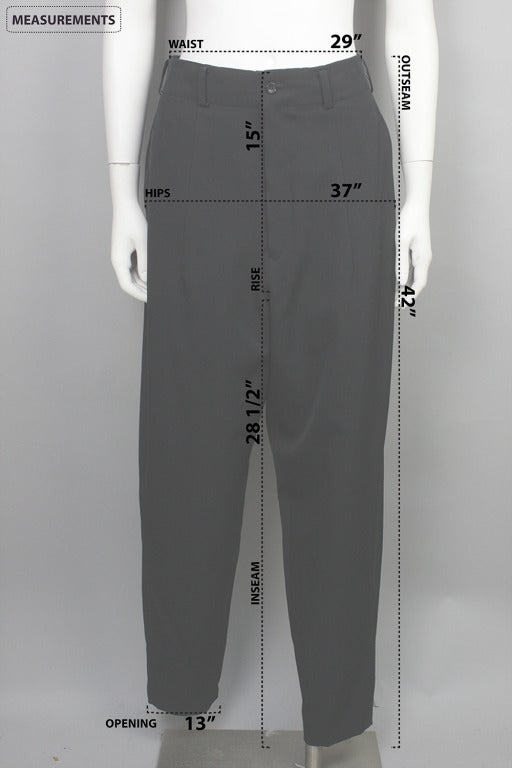 1980s Yohji Yamamoto Jodphur Dress Pants For Sale 1